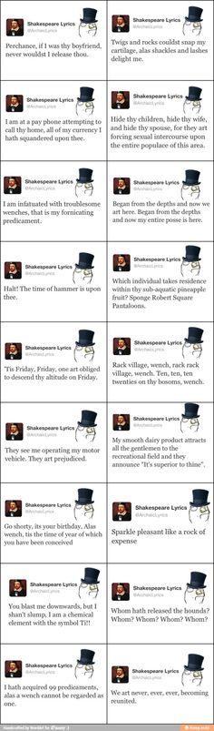 Shakespeare Lyrics / iFunny :)