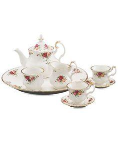 Royal Albert Serveware, Old Country Roses 9 Piece Mini Tea Set - Serveware - Dining & Entertaining - Macy's