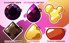 [A] - Mystery Gem Adopts! (Closed) by FloofHips on DeviantArt Steven Universe Anime, Steven Universe Fan Fusions, Steven Universe Fusion, Steven Universe Drawing, Pink Diamond Steven Universe, Diamond Party, Agate, Pokemon, Astrology