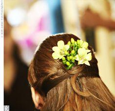 Real Weddings - Aurelia & Ragan: A Traditional Wedding in Iowa City, IA - The Hair