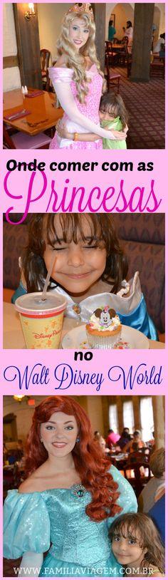 Conheça todas as opções de restaurantes no Walt Disney World onde é possível comer com as princesas Disney. Refeição com personagens é uma experiência muito mágica  e vale a pena incluir no roteiro.