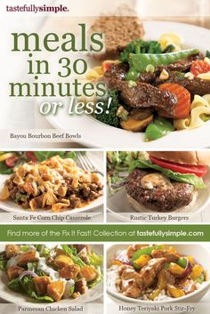 Tastefully Simple....Delicious recipes for meals in 30 minutes or less!  tsbymarsha.com