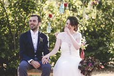 Otaduy Wedding Dress | L'Avellana Tarragona Spain Wedding Venue | Outdoor Wedding | Bright Colour Scheme | F2 Studio Photography | Focuslab Videography | http://www.rockmyweddingco.uk/marta-pablo/