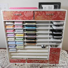 ink pad storage made of foamboard - with video