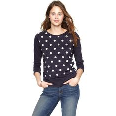 Exclusive Gap Clu polka dot T ($40) found on Polyvore