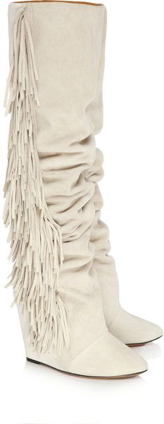 Isabel Marant - I have to admit I have visions of great boots under a poufy dress...these aren't quite right but I like fringe for a southern or country wedding