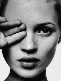 Kate Moss by David Sims for i-D magazine #149 - The Survival Issue, February 1996 / face