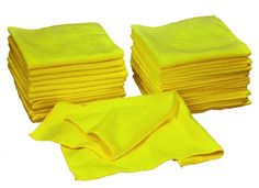 """Eurow Microfiber Premium 16 x 16″ 350 GSM Cleaning Towels 36-Pack"""""""