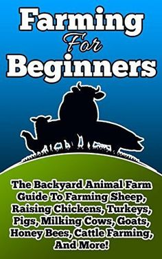 Farming For Beginners: The Backyard Animal Farm Guide To Farming Sheep, Raising Chickens, Turkeys, Pigs, Milking Cows, Goats, Honey Bees, Cattle Farming, ... (Farming, Farming For Beginners Book 1) by Frank Begley, http://www.amazon.com/dp/B00QKSJJYE/ref=cm_sw_r_pi_dp_8agIub1MKNK1R