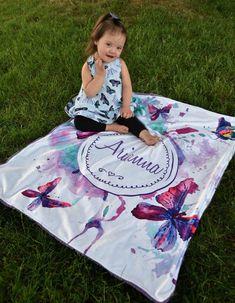 Mermaid Baby Blanket, Baby Mermaid, Butterfly Nursery, Butterfly Baby, Minky Baby Blanket, Picnic Blanket, Little Mermaid Nursery, Teal And Pink, Purple