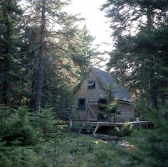 Shingled cabin on the island of Islesboro, Maine. Submitted by...