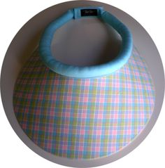 Spring, Pastel Plaid, Mid Size Brim, Sun Visor - Limited supply of this one. reg 30 now only $15.00 - www.TakeTwoVisorShop.com