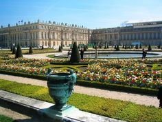Palace of Versailles is one of the must-visit sites in Paris, France. Also known simply as Versailles, it is actually a royal chateau that is located in the Ile Vacation Places, Places To Travel, Palace Of Versailles France, The Places Youll Go, Places To See, Paris France, Luis Xiv, Famous Gardens, Famous Castles
