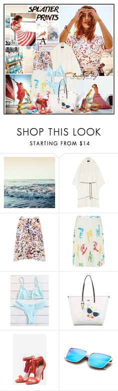 """""""Splatter Prints"""" by katik27 ❤ liked on Polyvore featuring Roland Mouret, Rebecca Minkoff, J.W. Anderson and Karl Lagerfeld"""