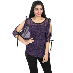Chick Bird Georgette top @ Calicozkart Buy Now :  Price : Rs. 790/- Selling Price : Rs. 600/-  Free Shipping in India. #WomenFashion #MustHaveFashion