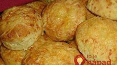 "Zázračné syrové koláčiky ""samokysky"": Na stole do pol hodinkySajtos! Croissants, Muffin, Food And Drink, Sweets, Cheese, Baking, Vegetables, Eat, Breakfast"