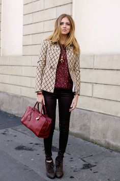 Chiara Ferragni of The Blonde Salad pairs the Avedon skinny in Axel with a sequined top and jacket for an effortless day to night look. The Blonde Salad, Fashion 101, Love Fashion, Womens Fashion, Day To Night Outfits, Printed Blazer, Citizens Of Humanity Jeans, Blazer Fashion, Poppy Delevingne