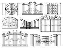 Gate, Fences With Bricks And Metal Lattice. - Download From Over 53 Million High Quality Stock Photos, Images, Vectors. Sign up for FREE today. Image: 26669739