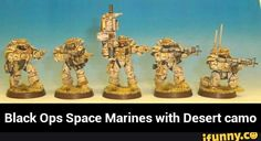 Black Ops Space Marines with Desert camo