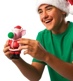 Limited Edition Santa Pig Popper with Soft Foam Balls. Pops balls out of its snout. Educational Toys For Kids, Kids Toys, Novelty Toys, Practical Jokes, Little Pigs, Cool Toys, Winter Hats, Santa, Product Launch