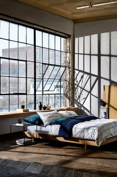 Awesome Industrial Style Bedroom Design Ideas Home Ideas Industrial Style Bedroom, Industrial Home Design, Loft Design, House Design, Hm Home, Loft Interiors, Dream Apartment, Cozy Room, Interior Exterior