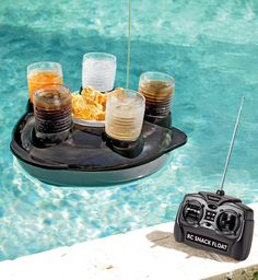 Remote Control Snack Bar - send food  drinks in the pool with the wireless remote controller
