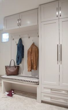 Home Entrance Decor, House Entrance, Restroom Decoration, Ikea Mud Room, Entry Closet, Mudroom Laundry Room, House Extension Design, Small Space Interior Design, Hallway Storage