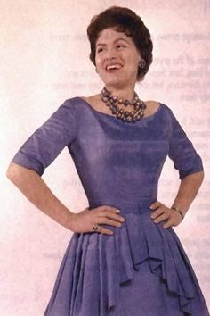 Patsy Cline the cut on this dress is excellent.  Nothing like a well tailored dress