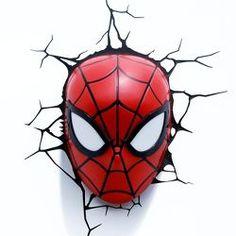 Marvel 3D Wall Nightlight - Spiderman Mask