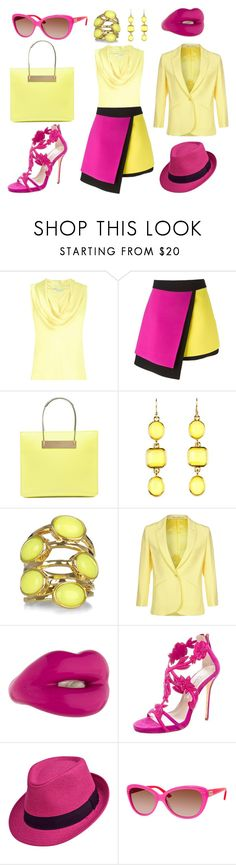 """""""Yellow"""" by amy-brandstatter ❤ liked on Polyvore featuring L.K.Bennett, FAUSTO PUGLISI, Balenciaga, Kate Spade, Isharya, Tiger of Sweden, Solange Azagury-Partridge and Oscar de la Renta"""