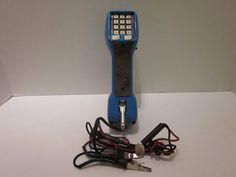 Harris TS21 Test Set Lineman Telephone Phone Line Tool Handset Blue Butt Set #Harris