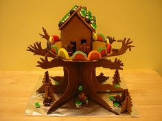 Gingerbread Treehouse by noricum, via Flickr