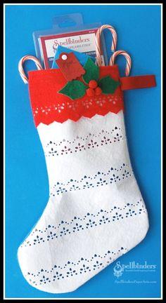 A Christmas Stocking by Holly Simoni on the Spellbinders blog
