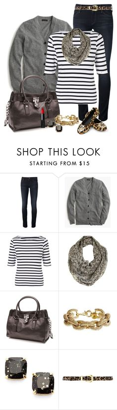 """Untitled #360"" by jensmith1228 ❤ liked on Polyvore featuring Mother, J.Crew, John Lewis, Tory Burch, Michael Kors, Kate Spade, Warehouse and NARS Cosmetics"