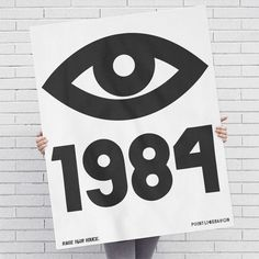 Items similar to 1984 George Orwell Big Brother Eye Poster on Etsy Design Poster, Graphic Design Print, Book Design, Poster Designs, Cover Design, Graphic Art, Screen Print Poster, Poster Prints, Art Print