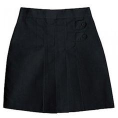Black Twill Scooter School Uniform Skirt Plus Size Girls 8.5-20.5