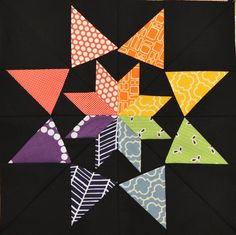 4x5 Modern Quilt Bee Block by yespositively, via Flickr