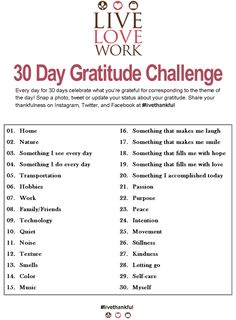 30 Day Gratitude Challenge - YEAH! Ready to be more thankful!