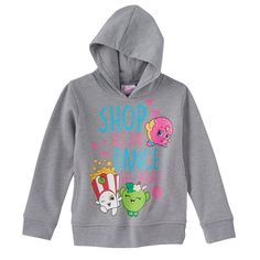 Girls 4-6x Shopkins Poppy Corn, Apple Blossom & D'list Donut Hoodie, Girl's, Size: