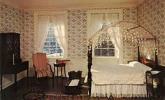The master bedroom of the John Marshall House in Richmond VA as interpreted in the 1960's