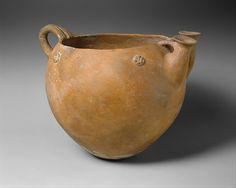 Terracotta bowl  Period:Early or Middle Bronze Age Date:ca. 2500–1600 B.C. Culture:Cypriot Medium:Terracotta Dimensions:H. 14 in. (35.6 cm) diameter 10 7/8 in. (27.6 cm)