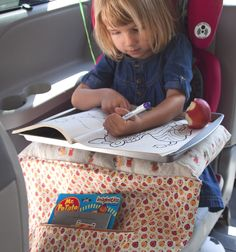DIY travel lap tray. It's carpool time!
