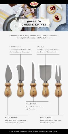 Now THAT'S a knife! Serve #cheese in style (and skip the social faux pas) by knowing your cheese knives. #artofcheese #presidentcheese