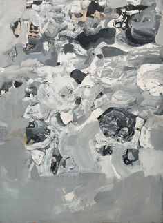 """Jay DeFeo, """"Untitled (Everest),"""" from the 'Mountain' series (1955), oil paint on canvas, 96 x 74 in, Collection of the Oakland Museum of California, Gift of Jay DeFeo (image © 2015 The Jay DeFeo Trust / Artists Rights Society [ARS], New York)"""