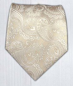 Twill Paisley - Cream/Ivory || Ties - Wear Your Good Tie. Every Day - Twill Paisley - Cream/Ivory/Champagne Ties