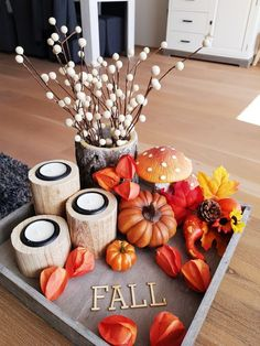 Autumn, - New Ideas Fall Home Decor, Autumn Home, Small Lounge Rooms, Ab Ins Beet, Cosy Home, Dollar Tree Fall, Diy Fall Wreath, White Pumpkins, Deco Table