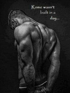 Simple and true, it takes commitment to get to where you want your body to be