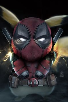 Deadpool and pikachu Deadpool Pikachu, Deadpool Art, Pikachu Art, Cute Pikachu, Cool Pokemon Wallpapers, Pokemon Backgrounds, Cute Pokemon Wallpaper, Cute Cartoon Wallpapers, Kalos Pokemon