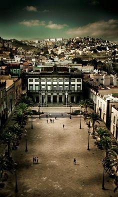 PLAZA de Sta. ANA y CASAS CONSISTORIALES.Las Palmas de GRAN CANARIA.