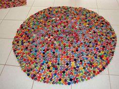 tapete feito com fuxico